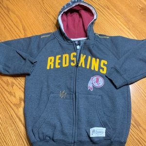 Washington Redskins zip up hoodie in size youth M.